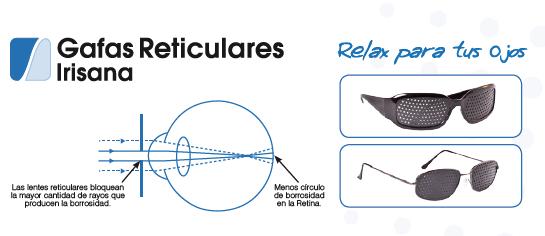 Como funcionan las gafas reticulares irisana